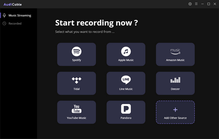 Start AudiCable Audio Recorder
